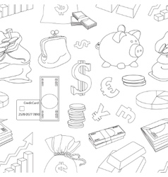 Finance and Currency pattern vector image vector image