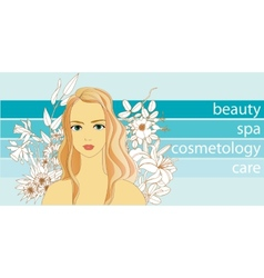 Natural beauty and care vector image vector image