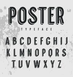 3d font 001 vector image