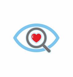 A look of love vector