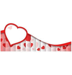 Abstract Background With Red Heart Shape vector image
