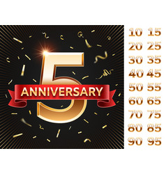 anniversary invitation card celebration cards vector image