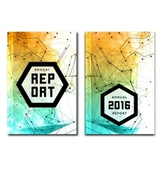 Annual report cover template vector