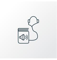 audio book icon line symbol premium quality vector image