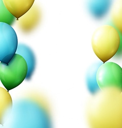 Background with balloons for greeting cards vector image