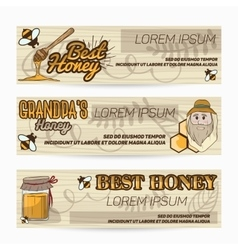 Banners flyers for advertising sweet vector