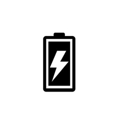 battery load flat icon vector image