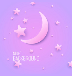 Beautiful background with the moon and stars vector