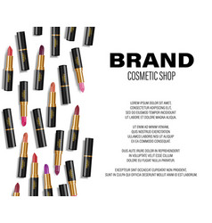 Beauty colorful lipstick ads lipstick top view vector