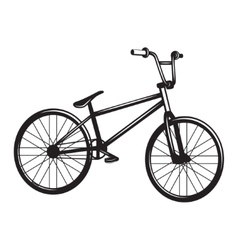 Bicycle monochrome vector image