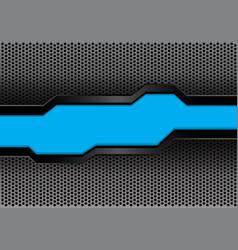 blue black futuristic banner on hexagon mesh vector image