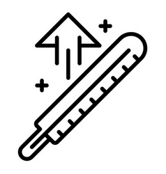 Body temperature up icon outline style vector