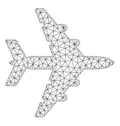 Bomber polygonal frame mesh vector