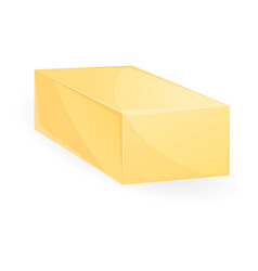 Butter brick icon cartoon style vector