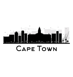 Cape Town silhouette vector
