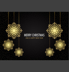 christmas background with sparkling snowflakes vector image