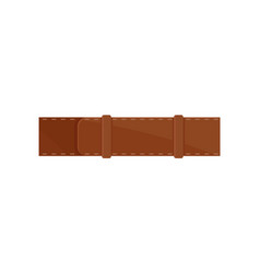 Classic men brown belt stylish waistband leather vector