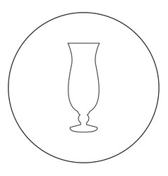 Coctail glass icon black color in circle vector