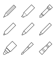 drawing and writing tool icon vector image