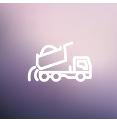 Dump truck thin line icon vector