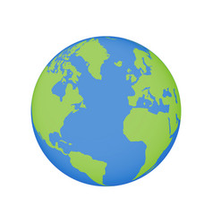 Earth globe icon world planet map vector