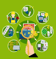 Electrical appliances and technologies composition vector