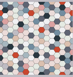 Fashion seamless pattern - colorful mosaic hexagon vector