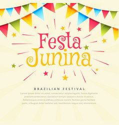 Festa junina brazil festival holiday background vector
