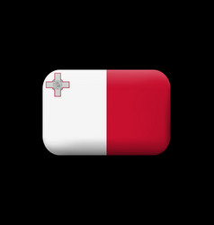 Flag of malta matted icon and button vector