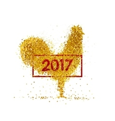 Golden rooster Chinese calendar vector