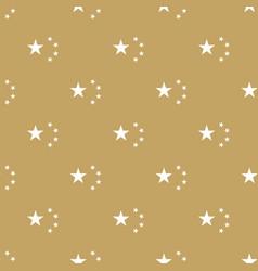 Golden seamless pattern stars vector