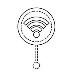 gps navigation pointer map wifi internet signal vector image