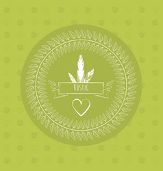 green rustic card heart ribbon decorative paper vector image