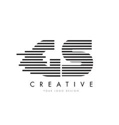 gs g s zebra letter logo design with black and vector image