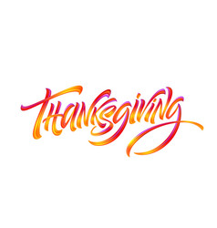 Happy thanksgiving hand drawn typography poster vector