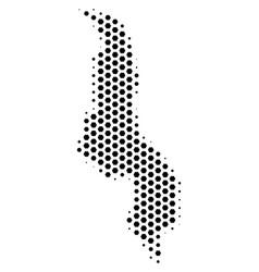 Hexagonal malawi map vector