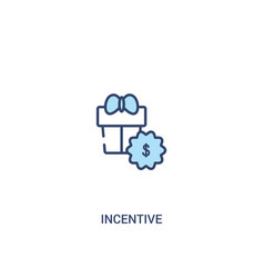 Incentive concept 2 colored icon simple line vector