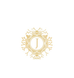 initial j wedding boutique logo designs vector image