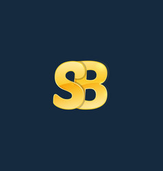 initial letters s b sb with logo design vector image