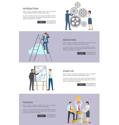 interaction and searching web vector image
