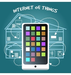 Internet of Things Concept with smart phone vector