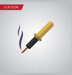 Isolated soldering iron flat icon repair vector