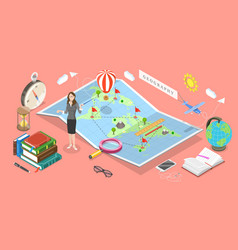 Isometric concept geography science vector