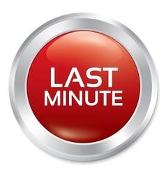 Last minute button sale red round sticker vector