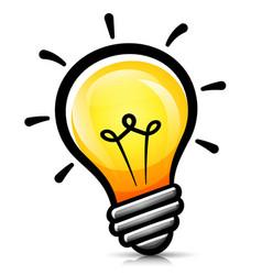Light bulb cartoon isolated vector