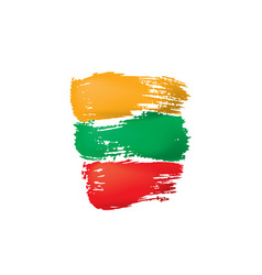 lithuania flag on a white vector image