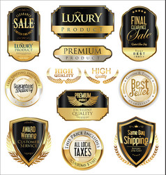 Luxury retro badge and labels collection 4 vector