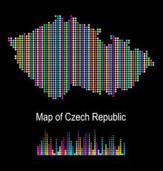 Map czech republic vector