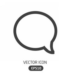 Message bubble icon vector