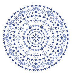 mexican-seamless-pattern-design-mandala-navy-blue vector image